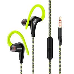 2019 mega auriculares de bajo Nuevos deportes con bobina móvil Auriculares HIFI Mega Bass con micrófono Auriculares Tipo de oreja y gancho para la oreja mega auriculares de bajo baratos