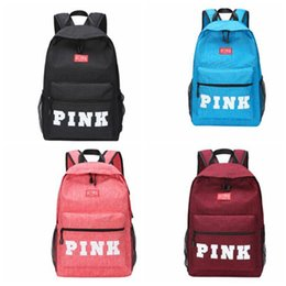 Wholesale interior design simple - Fashion PINK Letter Backpack For Girl Simple Design Women Backpack Fashion Travel Bag 4 Styles Travel Bags KKA5077