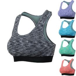2019 sujetador de la camisa de la muchacha Mujeres Sexy Sport Yoga Top sujetador Running Gym Workout Fitness Sports Shirt Mujer Yoga Chaleco Bras Niñas 5 colores al por mayor sujetador de la camisa de la muchacha baratos
