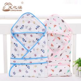 Wholesale Thin Cotton Blanket - Muslin Cotton Envelope for Newborns Summer Thin Soft & Breathable Baby Sleeping Bag Newborn Swaddle Wrap Blanket Baby Slaapzak