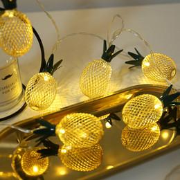 2019 fiesta cuerdas frutas Mrosaa 10/20 unids Piña Fruta Luces de Cadena Luz Amarilla Año Nuevo Banquete de Boda Guirnalda decoración Luz Led para exterior de Navidad rebajas fiesta cuerdas frutas