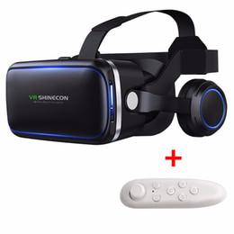 Wholesale 3d Smart Phones - Anskp VR Headset Version Virtual Reality Glasses 3D Glasses Headset Helmets Smart phone VR Box+GamePad