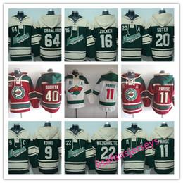 7d150e10e Sudaderas con capucha de diseño para hombre Minnesota Wild hockey Jerseys  16 Jason Zucker 40 Devan Dubnyk 22 Nino Niederreiter 9 Mikko Koivu 11 Zach  Parise ...