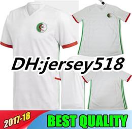 Wholesale Seasons Soccer Jersey - 2018 World Cup Algeria soccer Jerseys 2018 new season Mahrez home Football men shirts Feghouli Jersey
