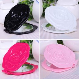 Spiegel Schöne 3d Stereo Double Sided Nette Retro Rose Form Make-up Kosmetiktasche Persönlichen Spiegel Schwarz Schönheit & Gesundheit