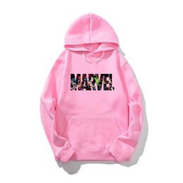 Sudadera con capucha hombre negro online-Marvel Hoodies Sweatshirt Casual Hoodie harajuku Hip Hop Streetwear Negro Gris Hombre Sudaderas M-2XL