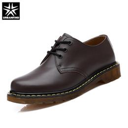 2019 chaussures décontractées pour hommes URBANFIND Printemps Automne Lâche Oxfords Hommes Chaussures En Cuir Taille Unie 35-44 Confortable Style Hommes Casual Chaussures À Lacets promotion chaussures décontractées pour hommes