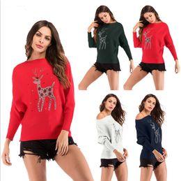 2019 suéter de reno Suéter de perforación en caliente para renos navideños de Europa y Estados Unidos 2018 con un conjunto de abrigo interior para mujer suéter de reno baratos