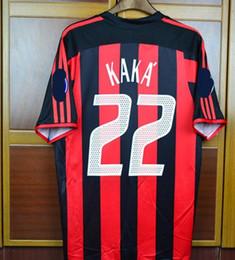 2019 camiseta de fútbol de australia MEJOR camiseta retro 03 04 Milan Kaka camisetas Shevchenko Nesta Maldini Pirlo Inzaghi 2003 2004 Rugby Jersey