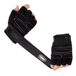 Wholesale Red Lift - 1Pair Workout Gloves Weight Lifting Gym Wrist Wrap Sport Training Fitness Gloves