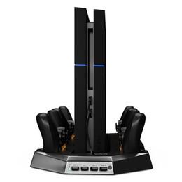 Controlador ps4 más frío online-Nuevos ventiladores verticales de doble soporte para estaciones de carga PS4 2/4 para controladores DualShock4 PS4