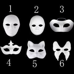 2019 meia máscara Máscaras do partido new plain branco half-face DIY criança coroa máscaras papel em branco para o feriado do dia das bruxas H54C meia máscara barato
