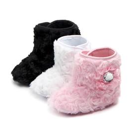 Zapatos de bebé dulces online-Baby Girl Snow Boot Kids Warm Shoes Winter Autumn Newborn First Walker Kids Niños Candy Booty Infantil Suela Suave Prewalker