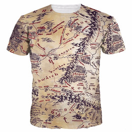 9c66baaac 3d map shirts 2019 - Newest Men Womens 3D T- Shirts Retro Print The Middle