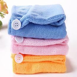 Wholesale Disposable Hair Towels - New Hot Sale Quick-Drying Microfiber Towel Hair Magic Drying Headscarf Hat Cap Spa Bath