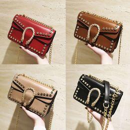 Wholesale Leopard Satchel Handbags - 2018 Luxury designer stars Handbags handbag Stars backpacks Shoulder Bag Sequins Bags high quality PU Purse lady women wallet 180315007