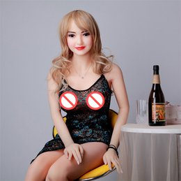 Wholesale Japanese Sex Dolls Heads - New adult 161cm silicone sex doll for women female realistic big penis real tan skin TPE Asian Japan head sexy
