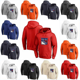 sweatshirt new york rangers xxl Promotion Rangers de New York Chandail 100% Cousu broderie Hockey Tout joueur ou le numéro de point Sewn Sweat-shirts Maillots