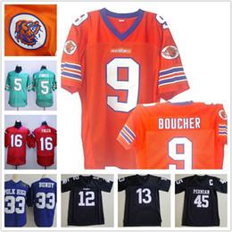 cão xxxl Desconto Men Bobby Boucher FILME O Rei da Água Mud Dogs Football Jerseys WILLIE Beamen 45 Boobie Miles 33 Al Bundy 5 Ray Finkle