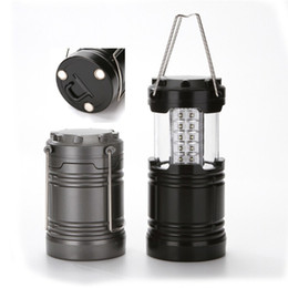 Wholesale Halloween Flashlights - LED camping lamp outdoor collapsible lantern emergency Flashlights Portable Black Collapsible For Hiking Camping Halloween Christmas