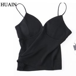 Wholesale Hot Sexy Ladies Wholesale Clothing - Wholesale-Sexy Crop Top Women Tank Top Camis Bra Summer 2017 Hot Sale Sleeveless Shirt Fitness Backless Camisole Ladies Female Clothing