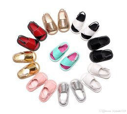 Wholesale Pink Infant Sandals - 9 colors new arrivals baby girl boy first walkers infant shoes toddler boutique soft sandal shoes