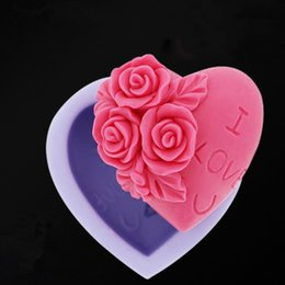 Wholesale Fondant Flowers Wholesale - Top Quality Food Grade Silicone Fondant Molds Rose Flower Cake Chocolate Biscuit Bakeware Moulds Sugarcraft Flowers Tools