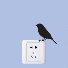 Canada WANGZHIMING nouvelle bande dessinée DIY 3d stickers muraux pour les chambres d'enfants Quiet Intelligent Oiseau pour stickers muraux chambre home decor salon cheap 3d bird wall decor Offre