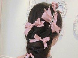 Vestido de novia morado blanco boda online-Novias coreanas Headwear Bow Tie Set Accesorios de boda accesorios del vestido de boda, blanco púrpura tres colores