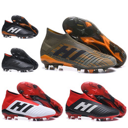 Wholesale Children Boots Boys - Men Women High Ankle Football Boots Predator 18 FG Soccer Shoes Youth Kids Children Boys Predator 18.1 FG Outdoor Soccer Cleats