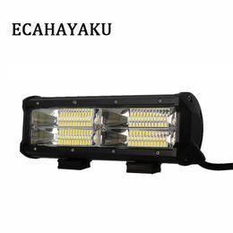 Wholesale dc led flood lights work - 1Pcs New Dual Row 7.5'' 144W 6000K LED Light Bar Flood Beam For Offroad 4X4 Trucks SUV Work Light Bar 10-30V DC