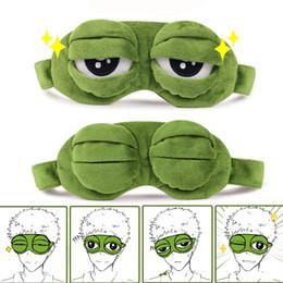 2019 schwarzes fauxpelzstirnband Lustige Kreative Pepe der Frosch Traurige Frosch 3D Augenmaske Abdeckung Cartoon Plüsch Schlafmaske Nette Anime Geschenk