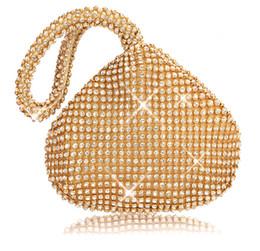 Bolsa dedo anelar on-line-Strass Mulheres Sacos de Embreagem Diamantes Anel de Dedo Das Senhoras Sacos de Noite Do Vintage De Cristal Do Casamento Nupcial Bolsas Bolsa Sacos Titular