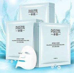 2019 máscara de seda hialurónica 100 unids Hialurónico ácido seda máscara Facial Productos para el cuidado de la piel Rehidratación de agua Control de aceite envío gratis rebajas máscara de seda hialurónica