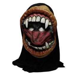 2018 Hot New arrival Alta qualidade festa de Halloween grande boca careta monstro silicone máscara de horror decorações do partido de