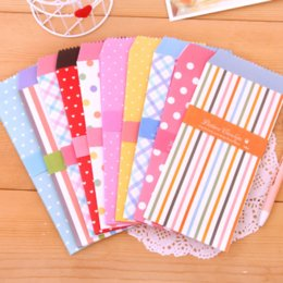 Wholesale Stationery Gift Pack - 10Pcs Pack Candy Colored Small Envelope Writing Paper Stationery Kawaii Birthday Christmas Card Envelopes Gift 019