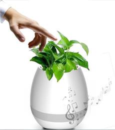 2019 vaso da giardinaggio Mini vasi da fiori da giardino Night Light Smart Touch Fioriere Vasi Lampada ricaricabile senza fili Bluetooth Planter Miglior regalo per bambini wn252 vaso da giardinaggio economici