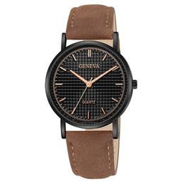 Relojes de pulsera de pulsera antiguos online-GINEBRA Top Brand Para Mujer Para Mujer Faux Leather Band Cuarzo Analógico Vestido Pulsera Reloj de pulsera Ocio Reloj Horas #Zer