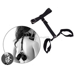 Wholesale Toys For Slaves - Sex Products Adult Sexy Toys for Couples Erotic Toys SM Slave Games Fetish Leather Collar Handcuffs BDSM Bondage Sex Toys