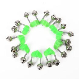10 шт. Рыбалка укус сигнализация удочка колокола стержень зажим наконечник клип колокола кольцо Зеленый ABS Рыбалка аксессуары от