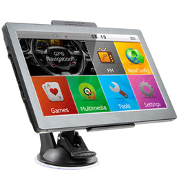 Wholesale Touch Screen Win - New 7 inch GPS Car Navigation With Bluetooth AV Capacitive Touch Screen Navigator MTK DDR256MB 8GB Win CE Multilingual