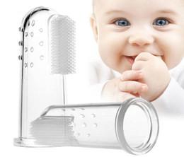 imagem moda criança Desconto Toothbrush do bebê, escova de dentes do dedo do silicone do produto comestível para crianças do bebê, mordedor do Toothbrush e Massager oral