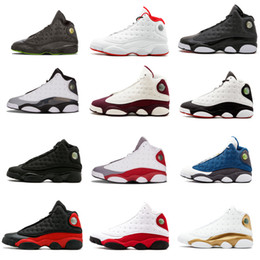 Wholesale high quality cat leather - High Quality shoes 13 Chicago dpm Bred Basketball Shoes men 13s Black Cat He Got Game Playoffs Hyper Pink Sneakers size 7-13