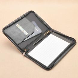 Dossier de dossier en similicuir A5 avec des dossiers à fermeture à glissière pour documents Porte-documents de dossier incorrect avec des papiers intérieurs à sac à rabat externe 1251A ? partir de fabricateur