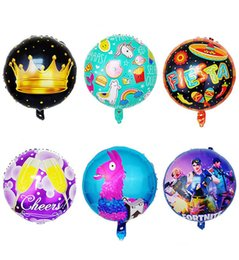 Wholesale Party Supplies - Fortnite Aluminum Foil Balloon christmas gifts Kids Toys Large Balloon Birthday Party Supplies Christmas Halloween Decoration 18 inch toy