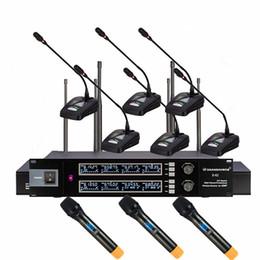 konferenzen mikrofon Rabatt 8-Kanal Sprach-UHF-Funkmikrofon mit Schwanenhals-Konferenzmegaphon und Handmikrofon für Besprechung und Vortrag