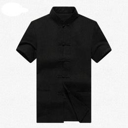 Wholesale Traditional Chinese Shirts Men - Men New Arrival Shirt Chinese Traditional Style Kung Fu Shirts Fashion Brand Casual Shirt Top S M L XL XXL 3XL