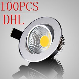 Wholesale cob led spot 3w - 100PCS Super Bright Dimmable Led COB downlight light COB Ceiling Spot Light 3w 5w 7w 12w AC110V 220V ceiling recessed Lights Indoor Lighting