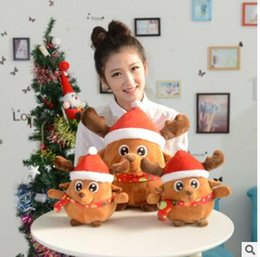 Wholesale Sound Inflatables - 2017 Popular Chirstmas gift Christmas elk, Santa Claus  will sing and light the flush toy for Christmas gifts  LUCKY BOY SUNDAY Santa Claus