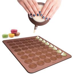 38 * 28 cm 48 Furos Macarons Tapetes De Silicone e Sobremesa Bocal De Decoração Definir Forno Pad Pad Mould Bakeware Ferramentas De Cozimento de